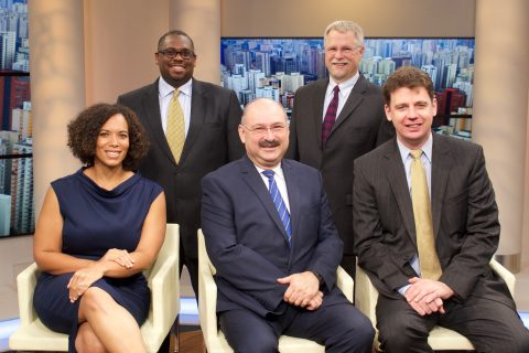 (From Left) Jennifer Gray Woods, Associate General Counsel; Karnik Doukmetzian, General Counsel; Todd R. McFarland, Associate General Counsel; Josue Pierre, Associate General Counsel; Thomas E. Wetmore, Associate General Counsel
